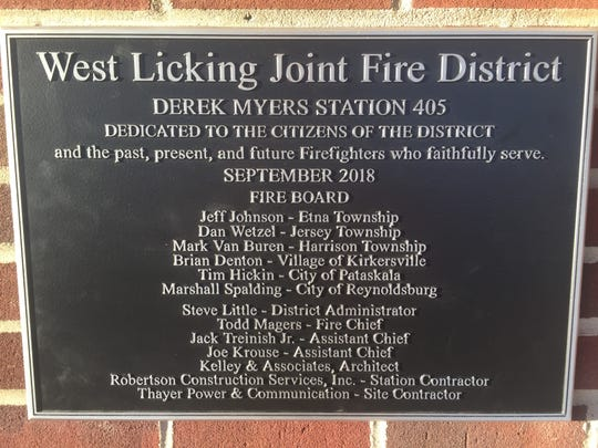 Station 405's dedication plaque.