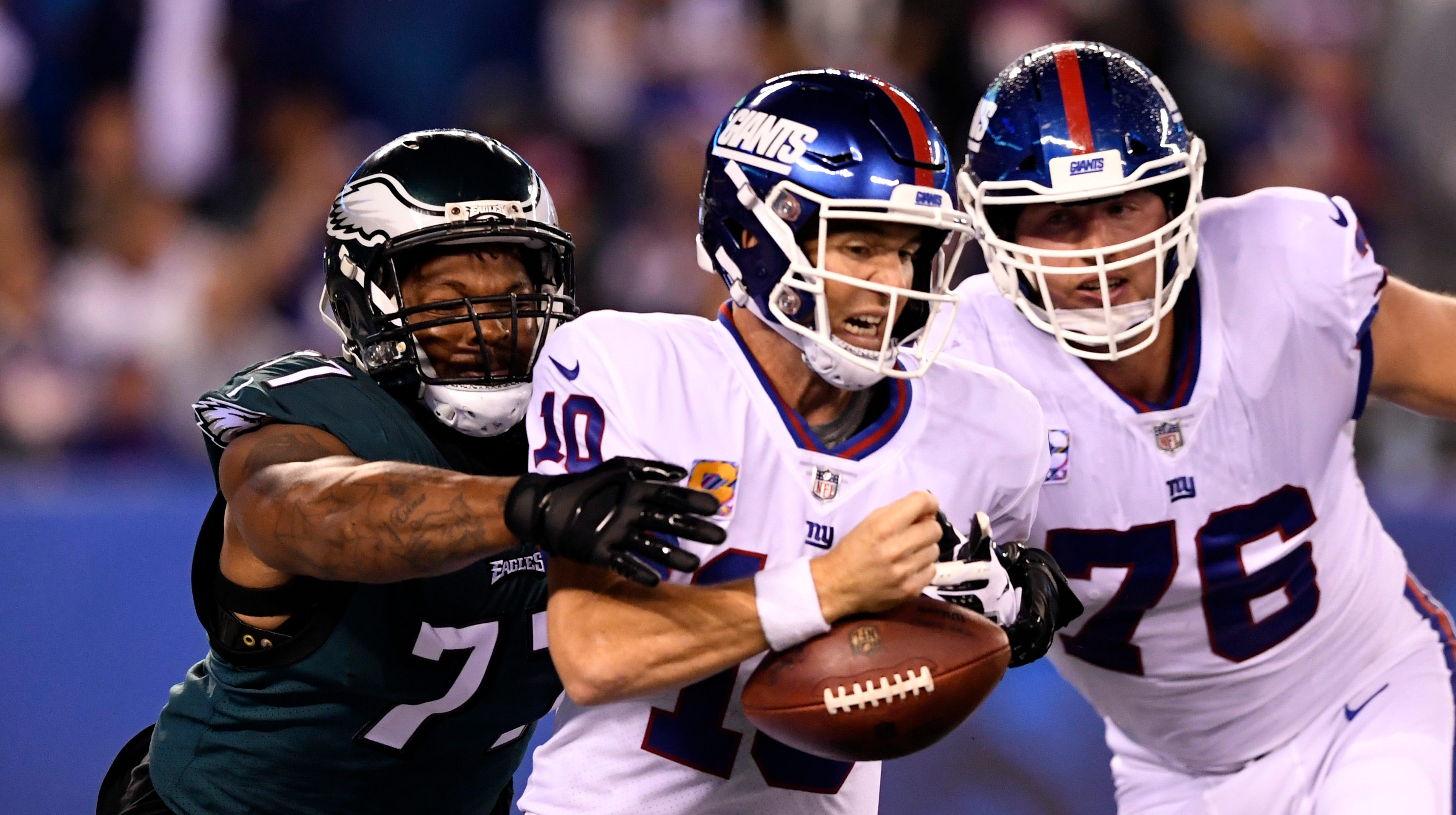 If it's not decisions by Eli Manning, it's the play calling. The Giants did what they could to give a game they desperately needed to the Eagles.