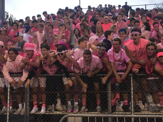 Don Bosco student section ready for game against St. Joseph.