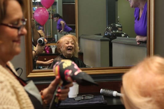 A Celebration For Susan Keane Who Is Turning 106 Years Old And Having Her Hair Styled At Allendale Hair Studios Like She S Done Weekly For 15 Years