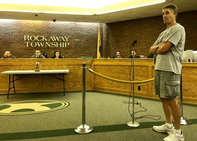 Resident Michael Ilardi waits for an apology for being called a leftist rioter at an Oct. 11 Rockaway Township Council meeting.