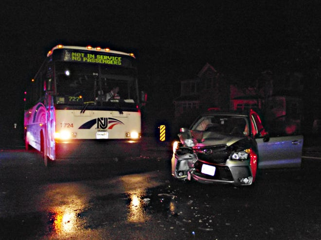 Early morning Friday, an NJ Transit bus and a Subaru collided in Ridgewood.