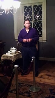 Craig McManus, a Bergen County psychic medium, gives a ghost tour at the Hermitage Museum in Ho-Ho-Kus.