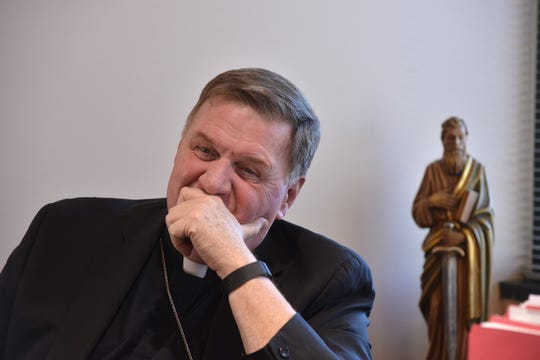 Cardinal Joseph W. Tobin at the Archdiocese in Newark NJ. Feb. 14, 2017.