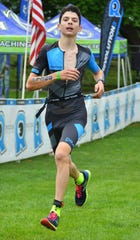 Matan Sopher has competed in 10 Olympic-distance triathlons, which include a 10-kilometer run.