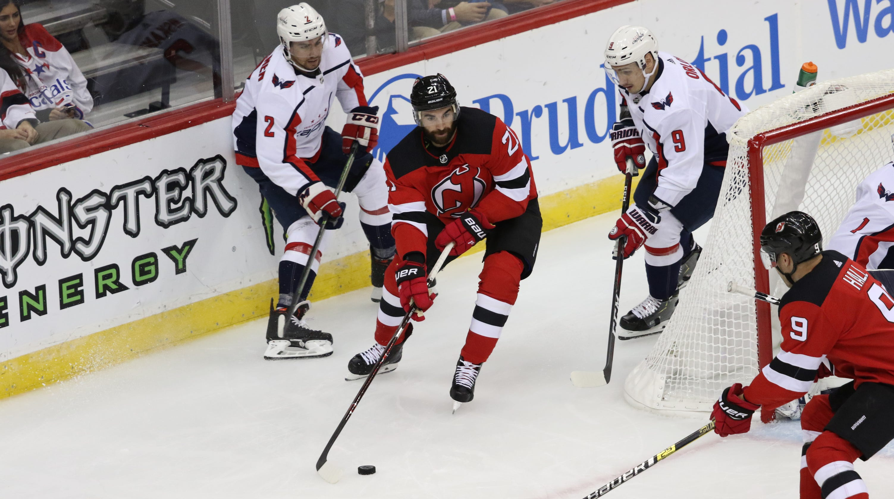 cheaper ad29d 42735 Kyle Palmieri's hot streak continues in NJ Devils' win over ...