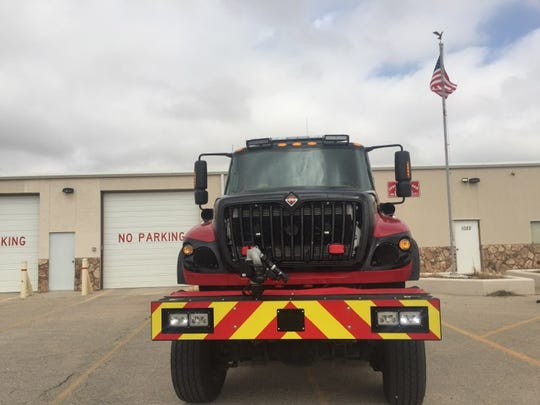 """A fire tanker known as """"The Beast"""" is ready for action for Joel's Volunteer Fire Department."""