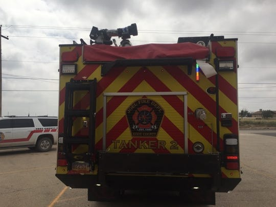 """A tanker unit with the Joel Volunteer Fire Department known as """"The Beast."""""""