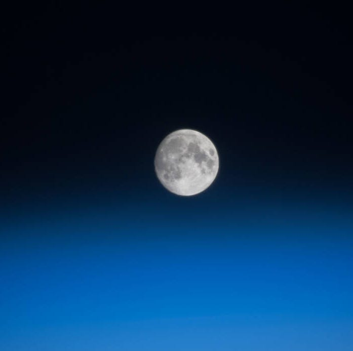 Night light: Earth's moon