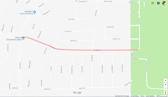 Lane closures will occur on 10th Avenue through January 2019 in accordance with road construction. The closures will affect 10th Avenue from N. Scenic Drive to Paiute Trail.