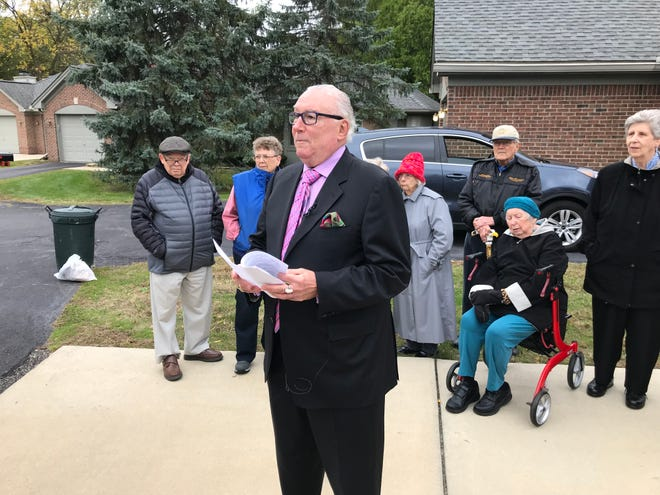 Attorney Robert Meisner talks to the media about a lawsuit filed against Beaumont Health by residents of Botsford Commons.