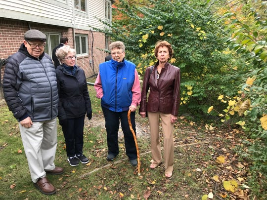 Botsford Commons condominium residents Ken Hedges (from left), Loretta Hedges, Nancy Hanes and Betty Ravery.