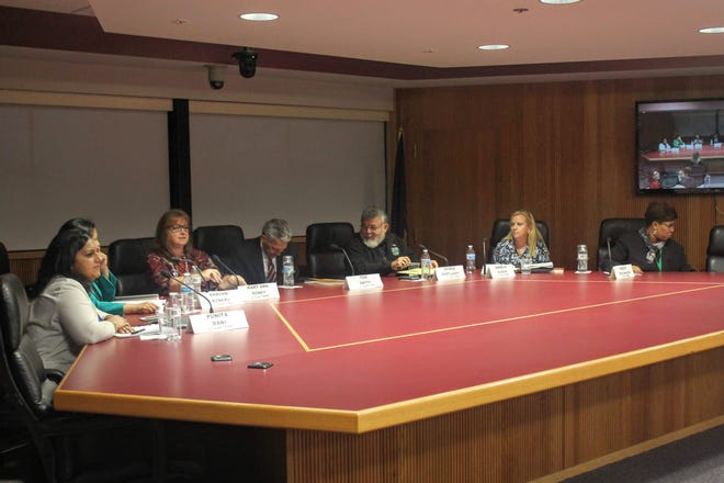 The seven candidates running for school board in Novi participated in a League of Women Voters forum Oct. 11.