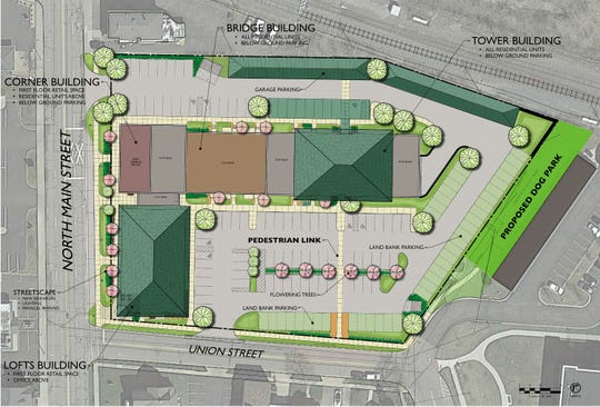 Architect Ron Jona provided this drawing of how the development could have potentially looked.