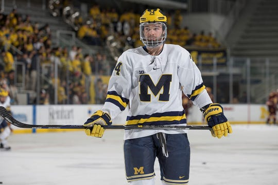 Nicholas Boka is closing out a stellar career at Michigan, and the senior defenseman from Plymouth credits much of his growth as a player to his time with the NTDP.