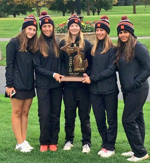 The Northville girls golf team captured the MHSAA Division 1-Regional 2 title at Travis Pointe Country Club.