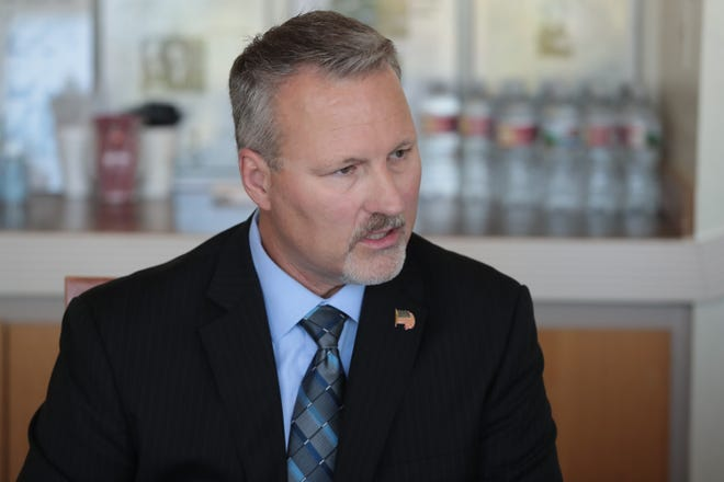 Michael Wilson speaks at the Desert Sun Editorial Board Indio City Council candidate interview session, September 18, 2018.