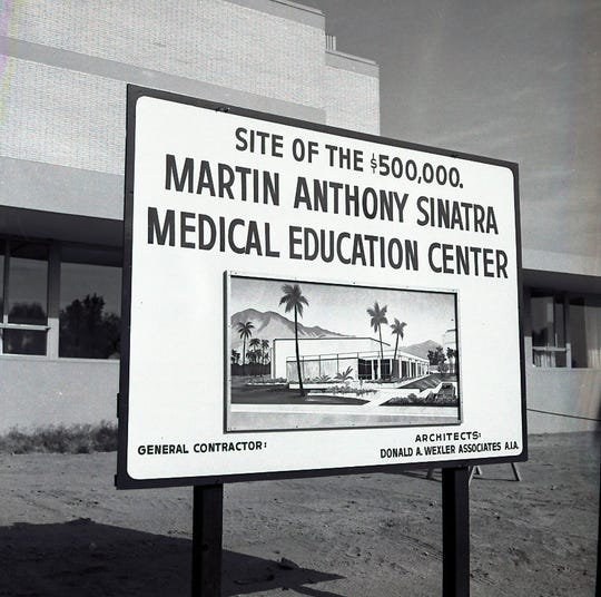 The site of the Martin Anthony Sinatra Medical Education Center. Its architects were Donald A. Wexler Associates A.I.A. c. 1970.