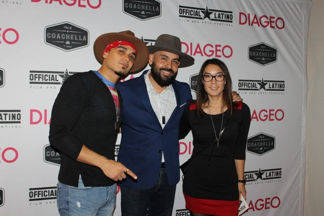 Latino filmmakers Marc Reign, Blake Vaz and Scarlett Urbano hit the Official Latino red carpet.