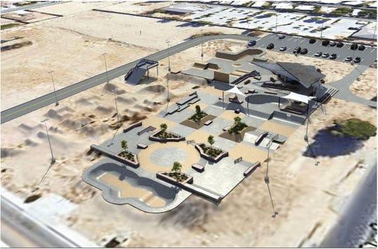 X Park skatepark rendering