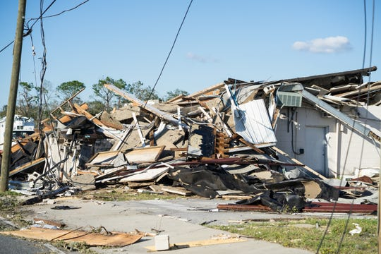 Hurricane Michael made landfall near Panama City, Fla., on Wednesday, Oct. 10, 2018, and generated winds of up to 155 mph. Many Panama City homes and businesses received heavy structural and roof damage.