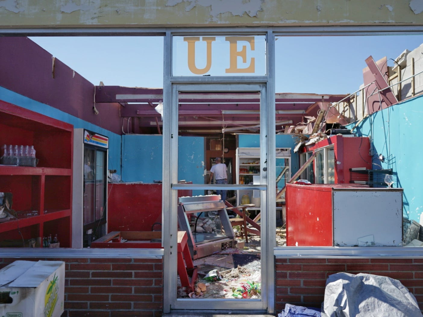 What's left of Agueda Sanchez's bakery after Hurricane Michael barreled through Panama City.