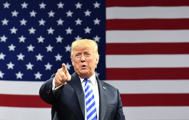 President Donald Trump will swing through Arizona on Friday to rally support for Republican Senate candidate Martha McSally, whom he's endorsed.