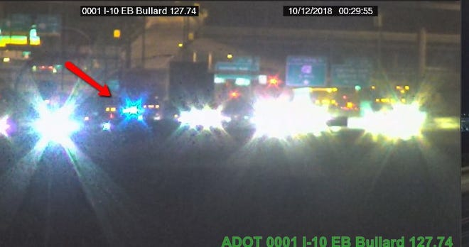 One person died in a crash early Friday morning on Interstate 10 at Estrella Parkway in Goodyear.
