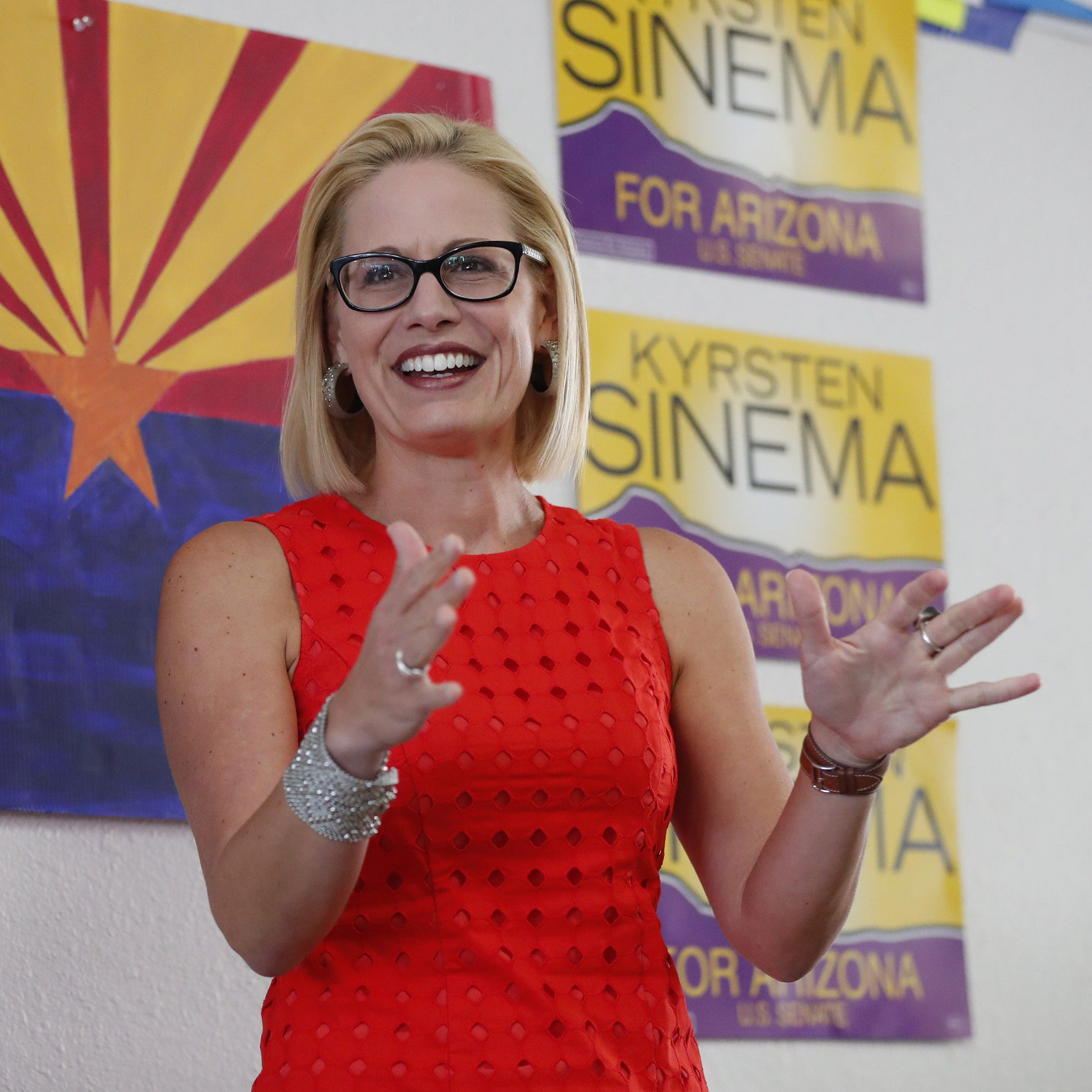 Arizona Senate race: Kyrsten Sinema makes closing argument to voters with 1-minute TV ad