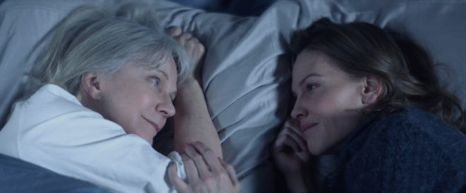 """Blythe Danner (left) and Hilary Swank star in """"What They Had."""""""