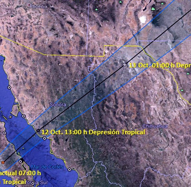 Tormenta tropical 'Sergio' toca tierra en Baja California Sur
