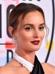 File: Leighton Meester arrives at the American Music Awards 2018.