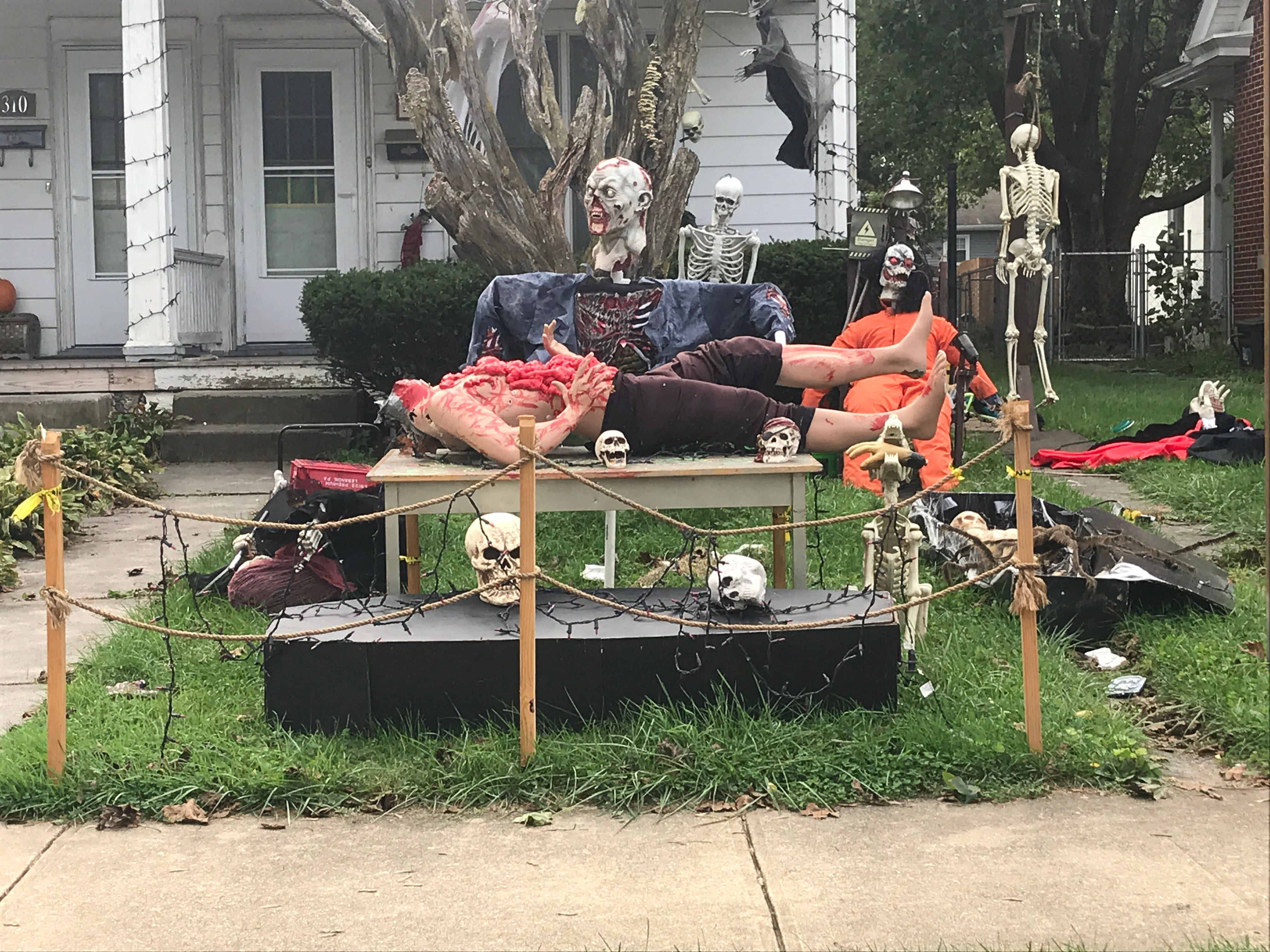 A home on Cherry Street in Palmyra is prepared for Halloween.
