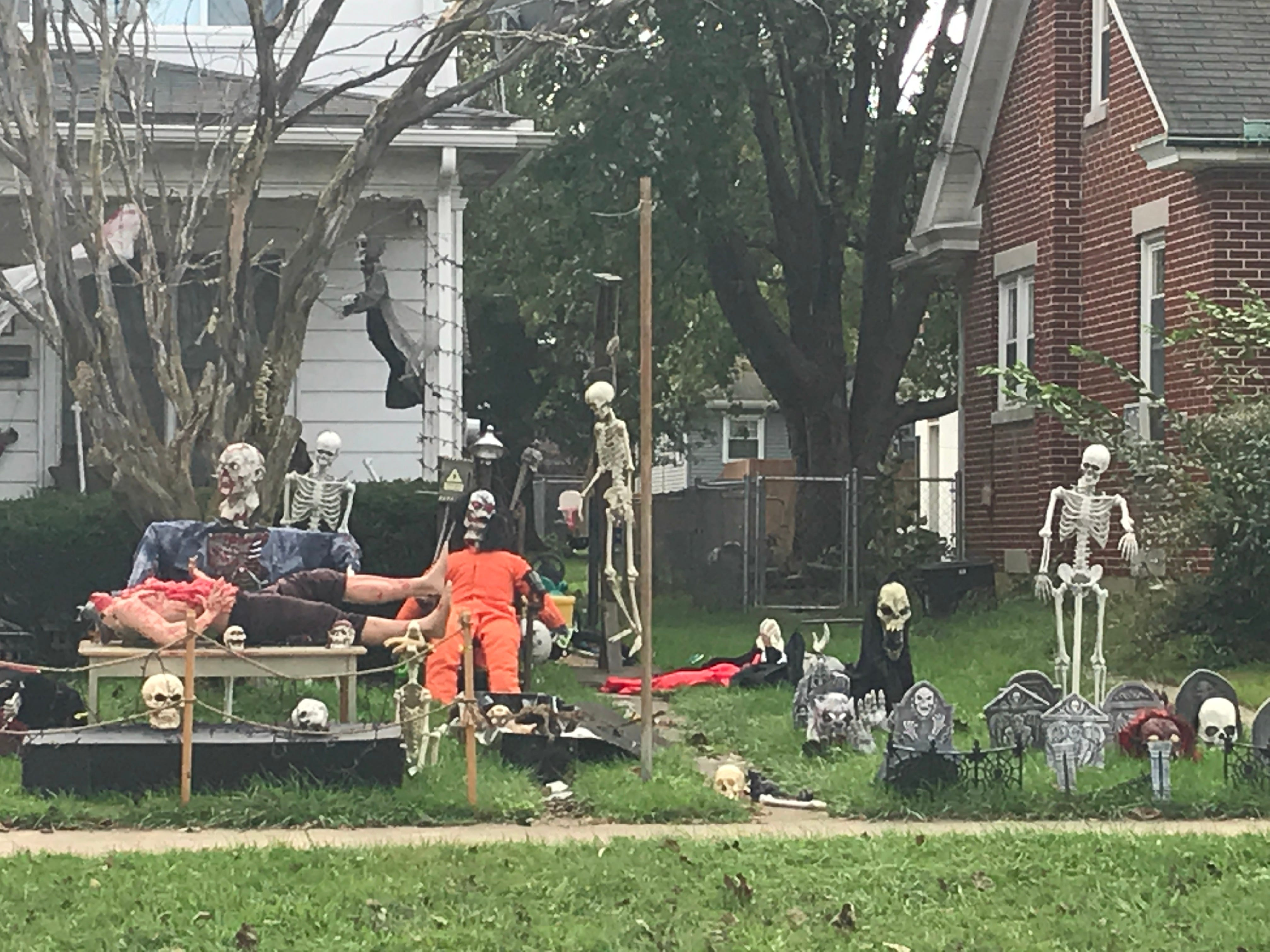 A home on Cherry Street in Palmyra is getting in the Halloween spirit
