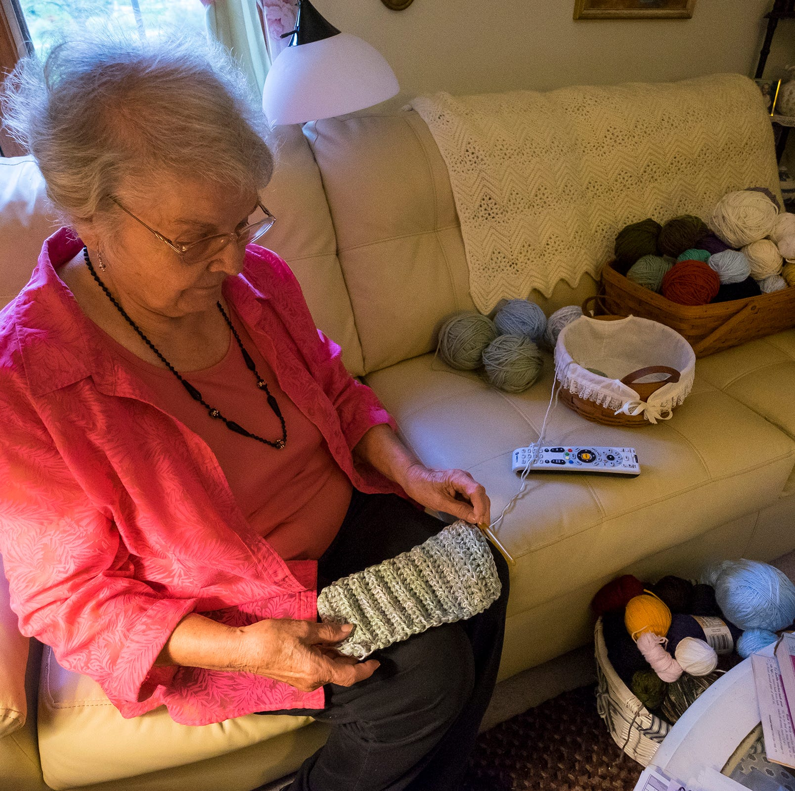 Fort Gratiot woman crochets away the cold