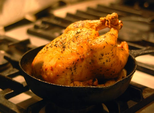 Richard Erickson's recipe for roast chicken would be just like your grandmother used to make, if she was French.