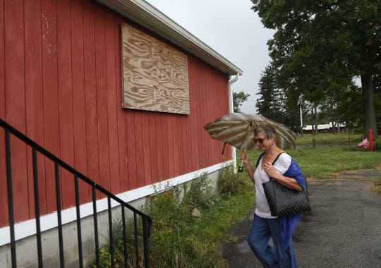 Nancy Macnamara from Honey Locust Farm of Newburgh during a tour of  the Beacon Correctional Facility on October 11, 2018. Macnamara joined several of her friends who are considering preparing a proposal for the property.