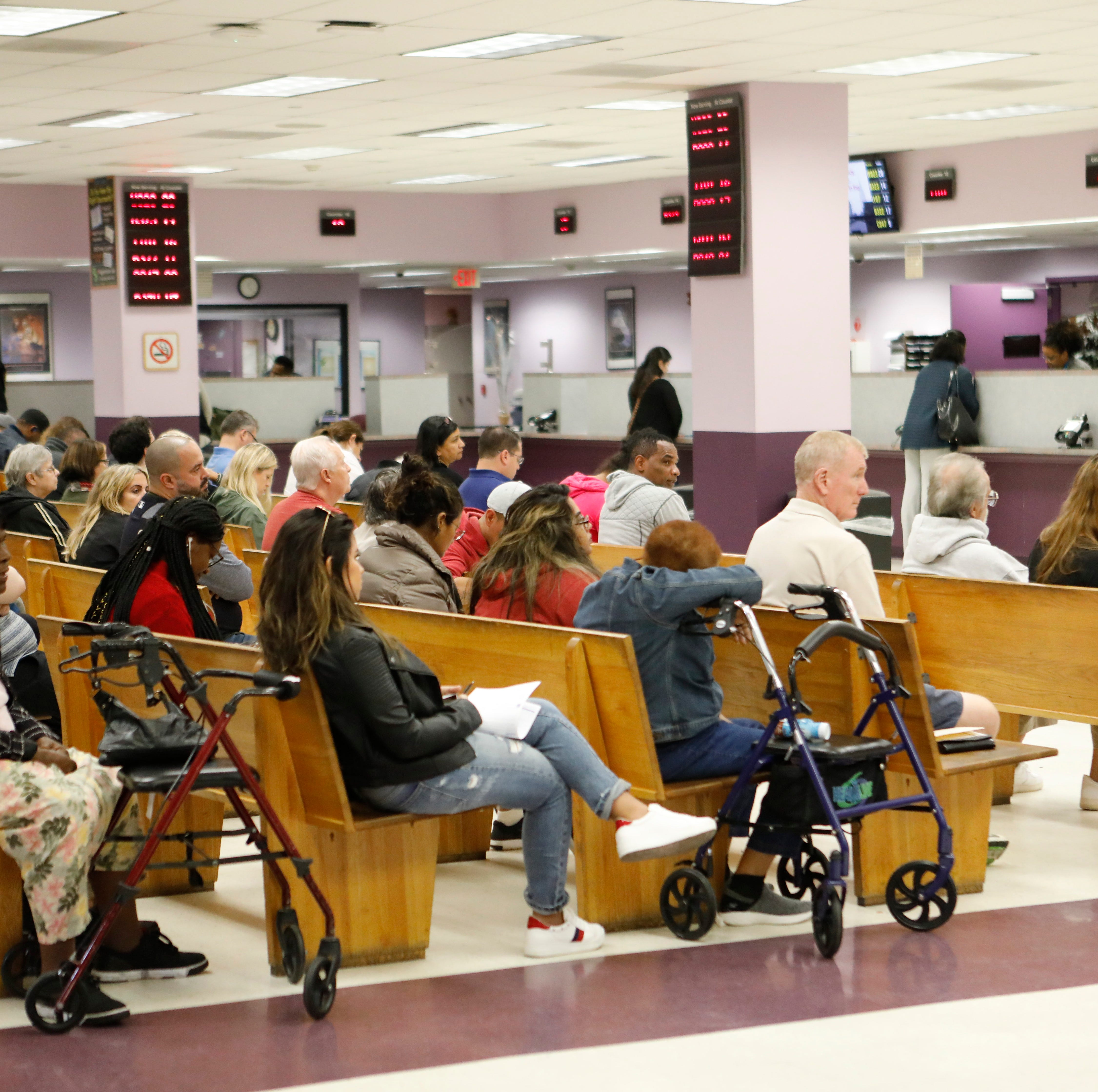 People have been complaining about the long waits while conducting business with the White Plains Department of Motor Vehicles on Oct. 12, 2018. The people that The Journal News spoke to have been averaging 2 hours waits.