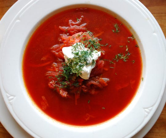 Borscht may be served hot or cold, pureed or chunky.