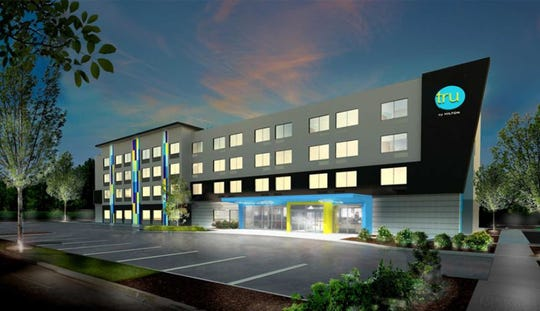 Chambersburg Borough Council has approved a TRU by Hilton hotel, similar to this artist's concept, on Walker Road behind Ruby Tuesdays.