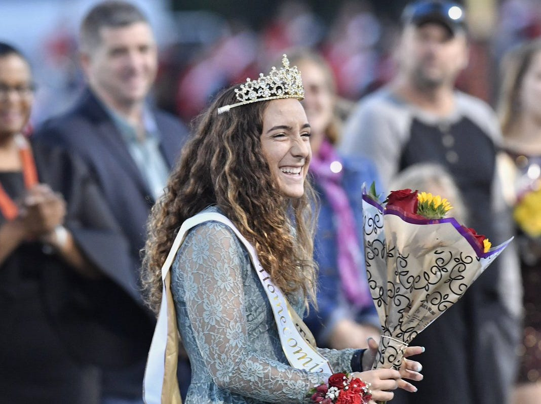 Maddie Kling was named Northeastern homecoming queen before the Bobcats' game against Central York on Friday.