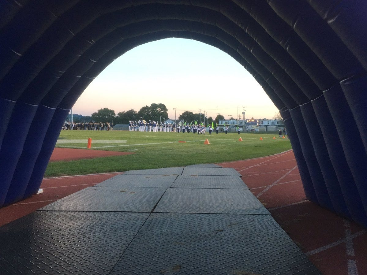 The view from the West York tunnel before Friday's game against Kennard-Dale.