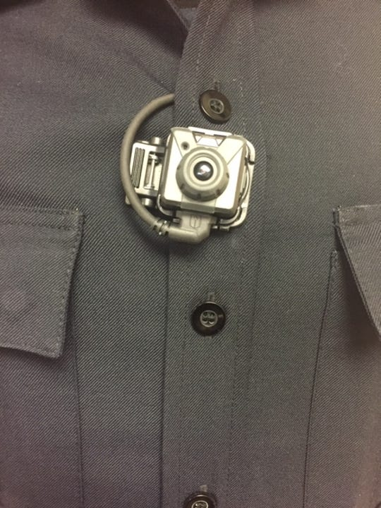 A body cam worn by a Springettsbury Township Police Officer. West York Borough Police agreed to equip its officers with similar devices as part of a lawsuit settlement.