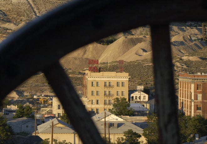 The famous Mizpah Hotel in Tonopah is shown in 2011 after it reopened in its currently restored state.
