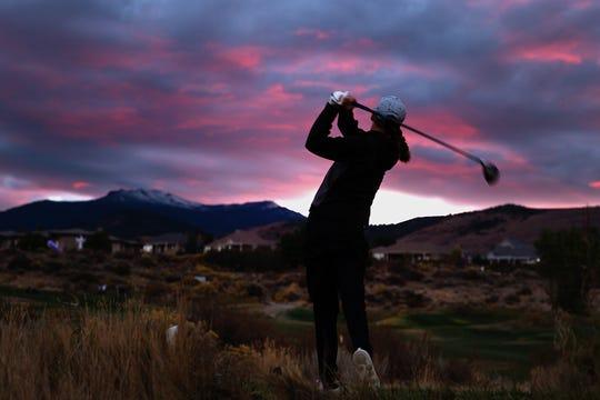 Carson's Karen Beglin was fifth in the girls golf Northern 4A Regional on Thursday at ArrowCreek.