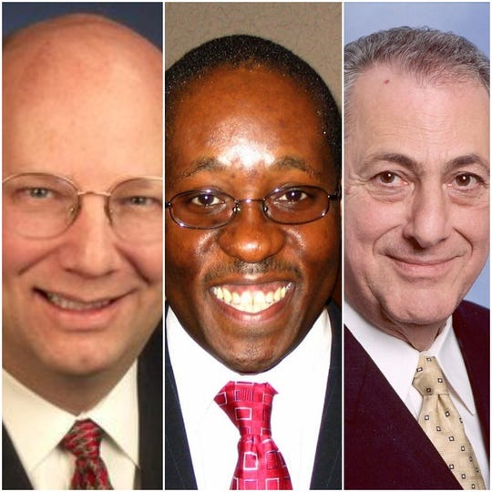 From left, the late Assemblyman Bill Nojay, lobbyist Robert Scott Gaddy and Nojay's successor, Assemblyman Joseph Errigo.
