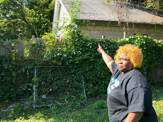 "Linda Alston lives next door to Ibero's ""crack house"" on Hoeltzer Street."