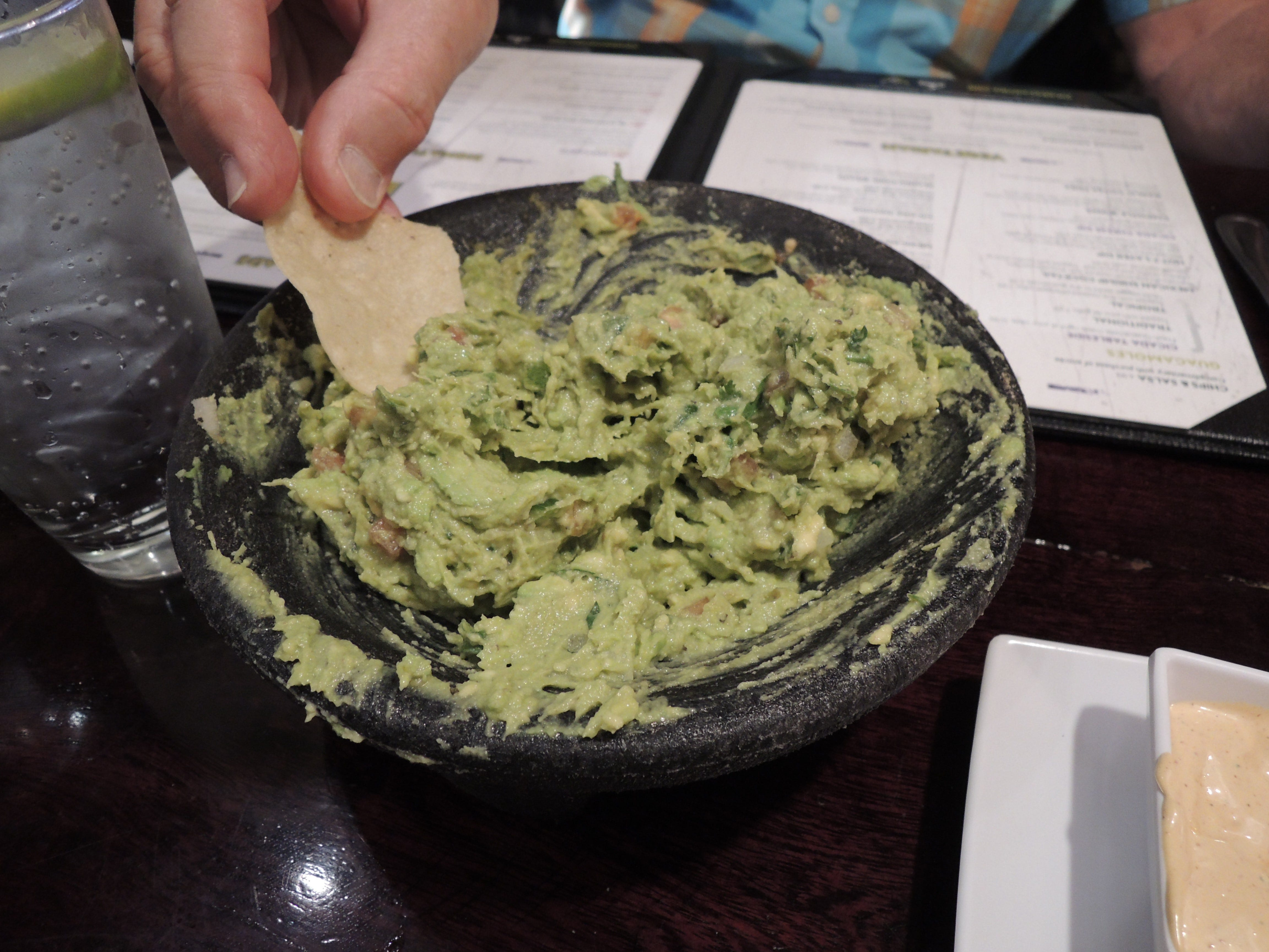 At Cicada Cantina in east Redding, a diner enjoys an order of guacamole made at the table.