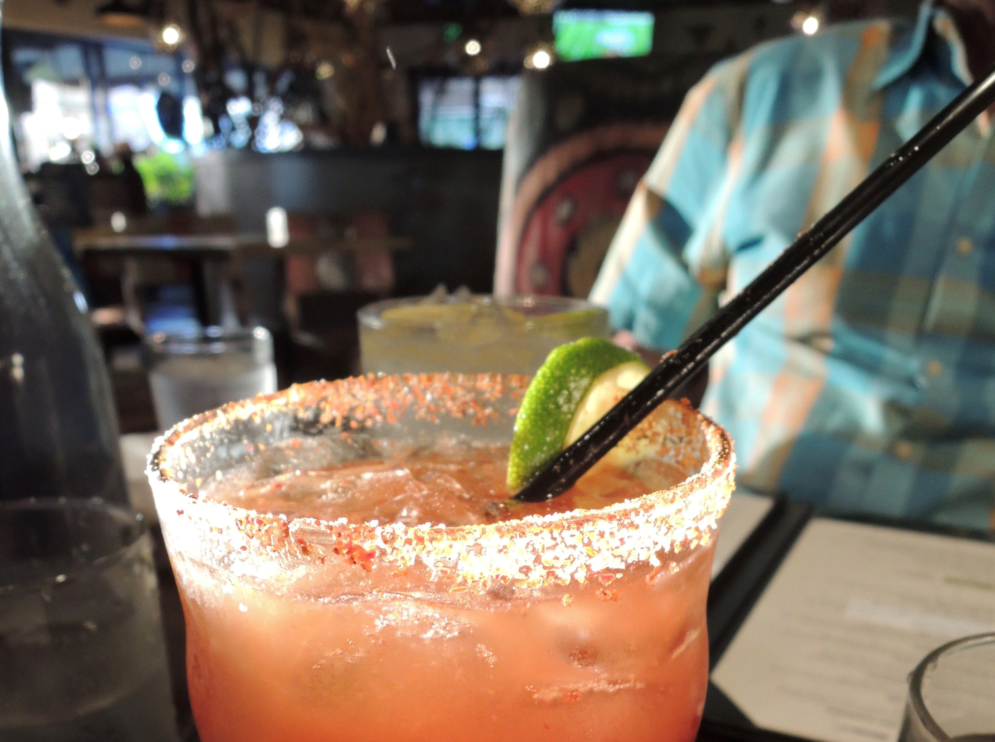 A Michelada at Cicada Cantina, a traditional Mexican mashup of beer and spicy tomato juice