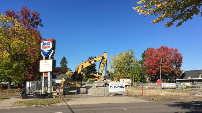 Construction at 1415 Capitol St. NE in Salem, Oregon, on Oct. 12, 2018.